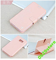 Чехол Samsung S6 / G920 книжка Flower Ultrathin розовое золото