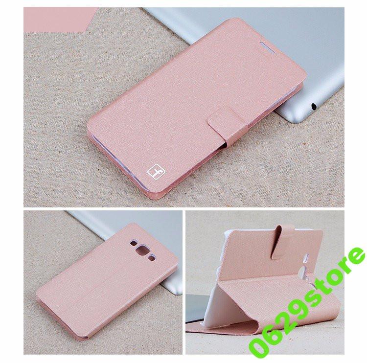 Чехол Samsung J320 / J300 / J3 / J3 2016 книжка Flower Ultrathin розовое золото