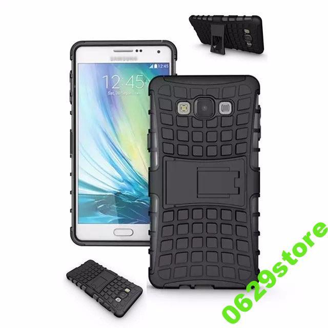 Чехол Samsung A700 / A7 2015 противоударный бампер черный