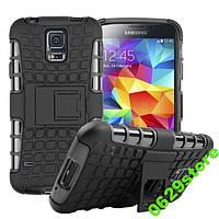 Чехол Samsung S5 / S5 Duos / G900F / G900FD / I9600 противоударный бампер черный