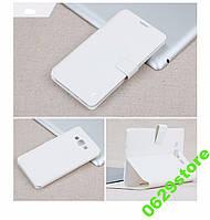 Чехол Samsung J100 / J1 книжка Flower Ultrathin белый