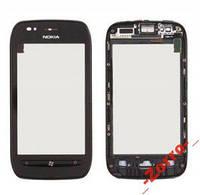 Тачскрин с рамкой Nokia 710 (black) Original