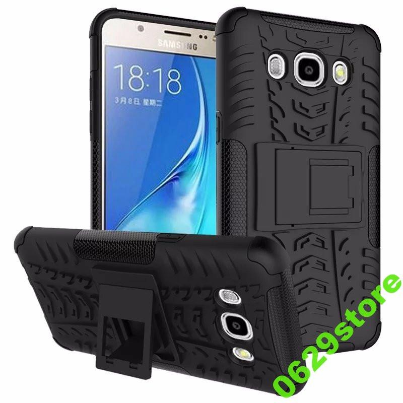 Чехол Samsung J510 / J5 2016 противоударный бампер черный