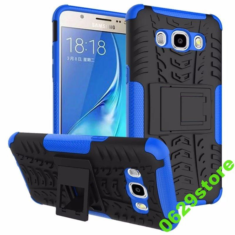 Чехол Samsung J510 / J5 2016 противоударный бампер синий