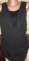 Майка-блуза с шифоновым передом! Размер: М.