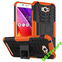 Чехол Asus Zenfone MAX / Zenfone MAX PRO / ZC550KL противоударный бампер оранжевый