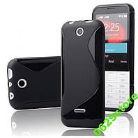Чехол Nokia 225 силикон TPU S-LINE черный