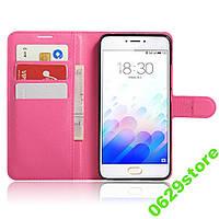 Чехол Meizu M3 Note книжка PU-Кожа розовый