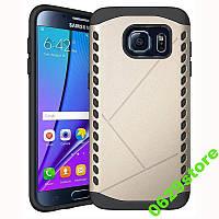 Чехол Samsung S7 edge / G935 бампер Armor Shield золотистый