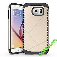 Чехол Samsung S6 edge plus / G928 бампер Armor Shield золотистый