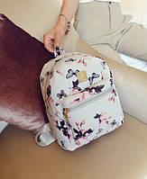 Рюкзак белый с бабочками