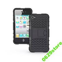 Чехол Iphone 4 / 4s противоударный бампер черный