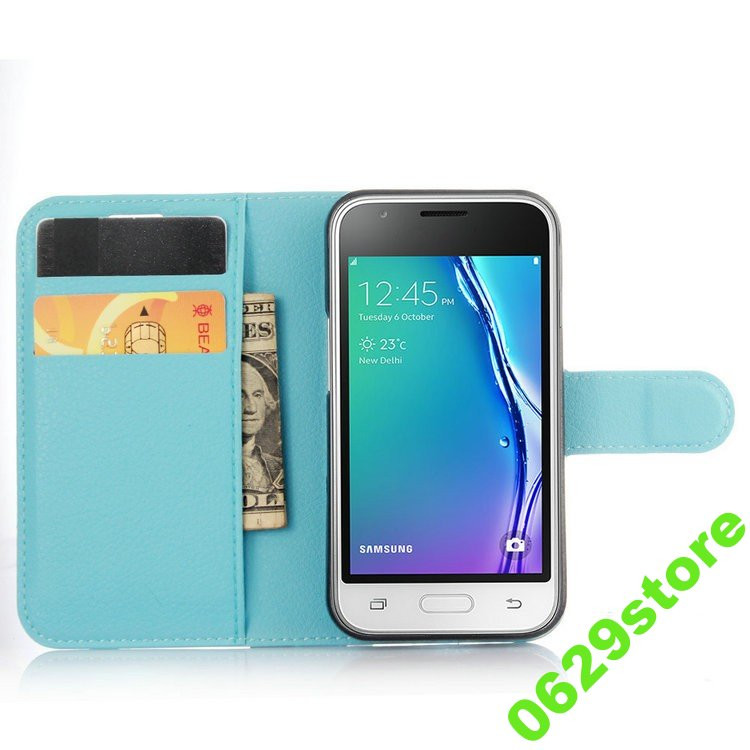 Чехол Samsung J105 / J1 mini книжка PU-Кожа голубой