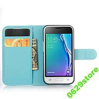 Чехол Samsung J105 / J1 mini книжка PU-Кожа голубой, фото 1