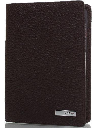 Сдержанная мужская обложка для паспорта из натуральной кожи Мужская обложка для паспорта SHI092-39FL черный
