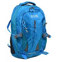 Рюкзак Туристический нейлон Royal Mountain 8437 l-blue, рюкзак голубого цвета, качественный