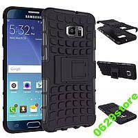 Чехол Samsung S6 Edge Plus / G928 противоударный бампер черный