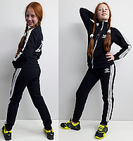 """Тёплый классический спортивный костюм  """"adidas"""" синий на 128 и 134 рост."""
