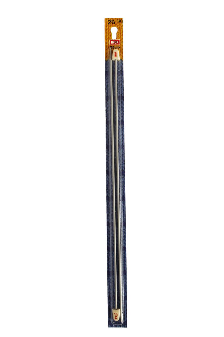 Прямі спиці 35 см 2,75 мм Inox Німеччина