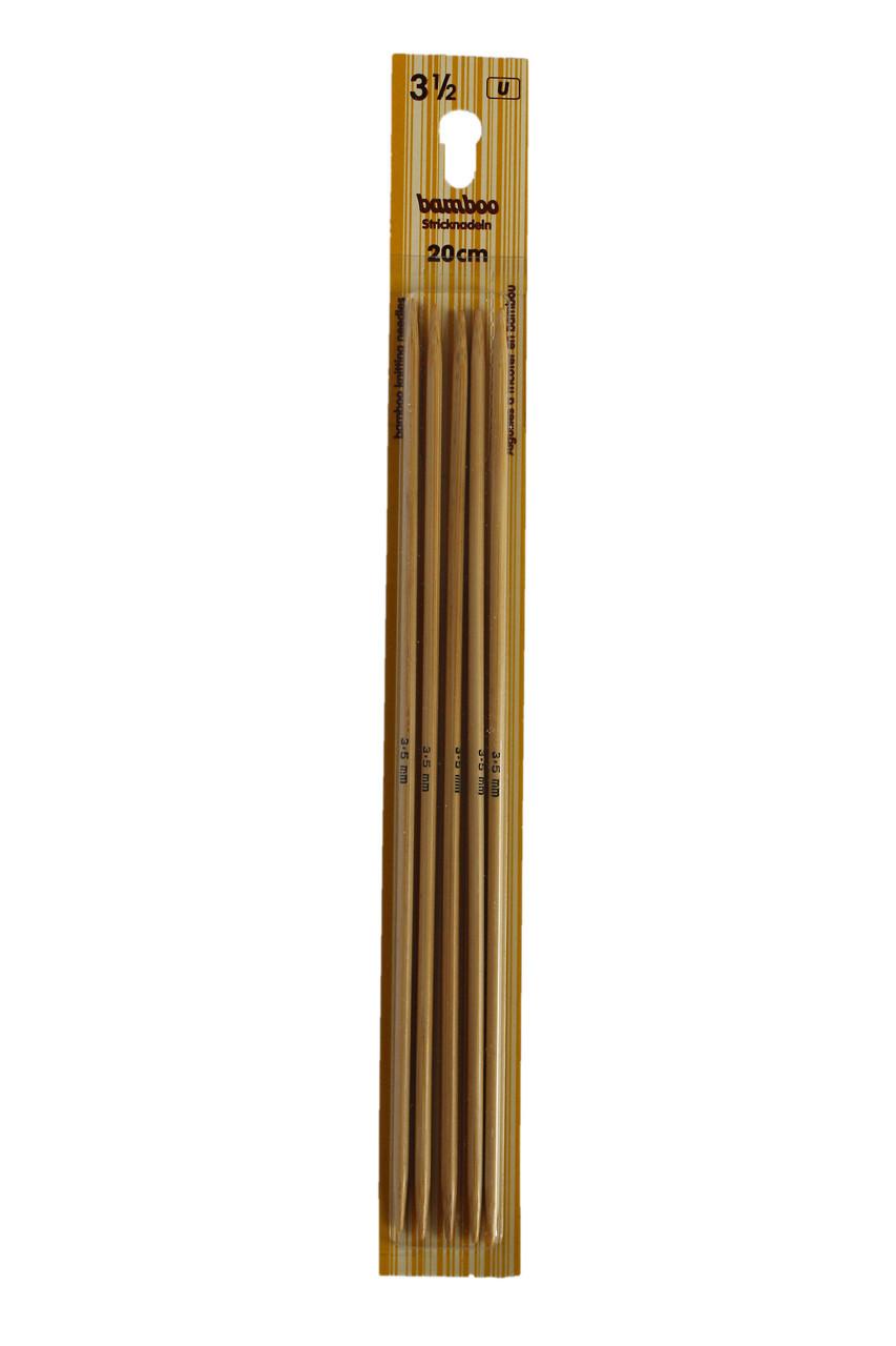Панчішні спиці бамбукові 20 см 3,5 мм Inox Prym Німеччина