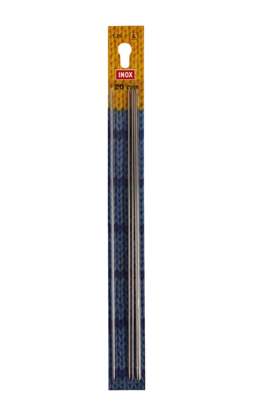 Панчішні спиці 20 см 1,25 мм Inox Prym Німеччина