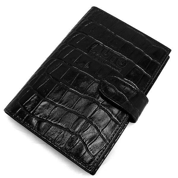 Обложка для прав, паспорта кожаная черная Desisan 102-11 Турция