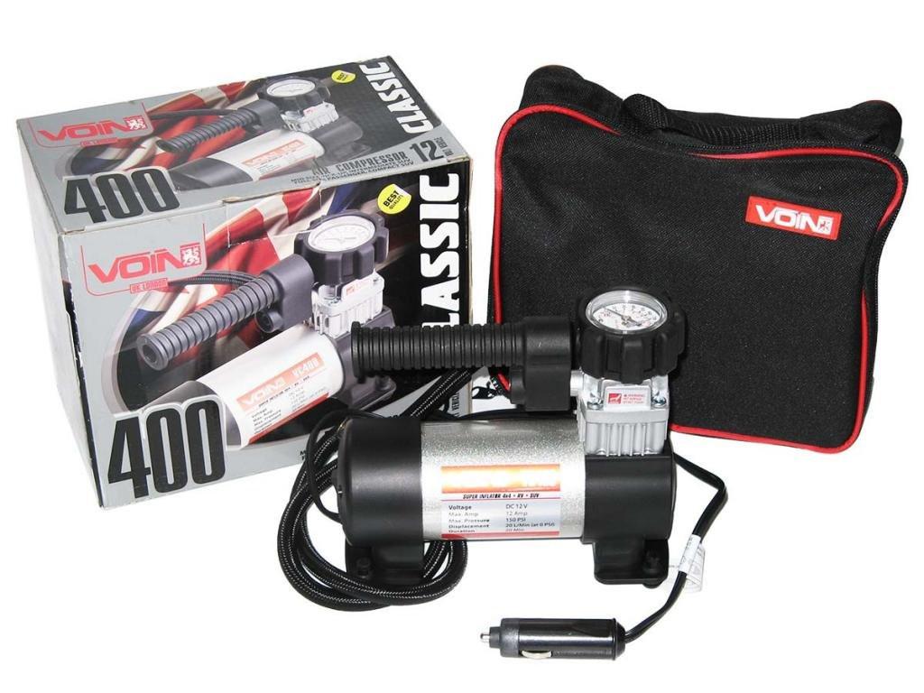 Автомобильный компрессор VOIN 400 150psi/12Amp/20 автомобильный насос для подкачки шин от прикуривателя