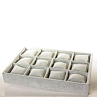 Бокс витрина на 12 ячеек с подушечками велюр[35/25/5 см]