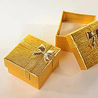 [5/5/4 см] Подарочная коробочка для украшений маленькая 24 шт. золотая, фото 1