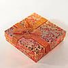 [9/9/3 см] Подарочная коробочка для украшений Цветочная средняя 12 шт.
