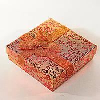 [9/9/3 см] Подарочная коробочка для украшений Цветочная средняя 12 шт., фото 1