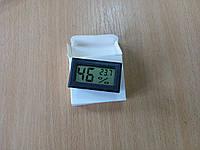 Термометр-гигрометр  электронный L563 черный (встраиваемый) (-40...+70) КИТАЙ