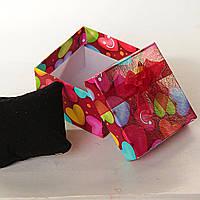 [9/9/6 см] Подарочная коробочка для украшений с подушечкой Любовные записки  большая 6 шт.