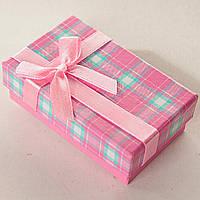 [8/5/3 см] Подарочная коробочка для для сережек и колец прямоугольная Розовые средняя 24 шт., фото 1