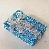 [8/5/3 см] Подарочная коробочка для для сережек и колец прямоугольная Блестящяя средняя 24 шт., фото 1