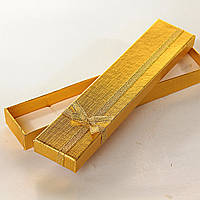 [21/4,5/2 см] Подарочная коробочка для цепочки, браслета Золото длинная  12 шт.