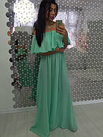 Платье женское летнее из креп-шифона с поясом