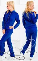 Теплый спортивный женский костюм из трехнитки 706