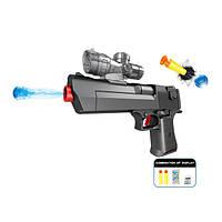 Пистолет игрушечный 2в1 стреляет орбисами (разрывными гелевыми пулями) и поролоновыми пулями