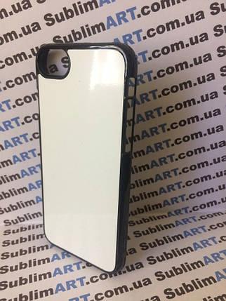 Чехол для 2D сублимации пластиковый Iphone 7/8 черный, фото 2