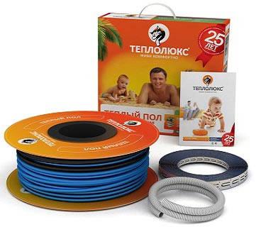 Двухжильный нагревательный кабель Теплолюкс 20ТЛБЭ2-5-100, фото 2