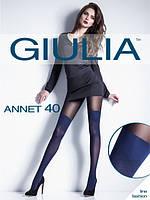 Колготы женские c имитацией чулков Giulia ANNET 40 den, 102/92