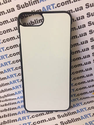 Чехол для 2D сублимации пластиковый Iphone 7Plus черный, фото 2