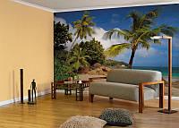 KOMAR 8NW-885 Praslin ФЛИЗЕЛИНОВЫЕ фотообои на стену «Пальмы, пляж, море»
