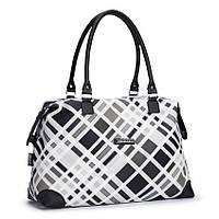 Женская сумка Dolly 452 классическая черная с белым Украина