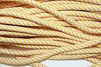 Шнур 7мм спираль (100м) желтый+белый
