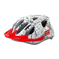 Шлем детский Green Cycle FAST FIVE р.50-56см бело-черный