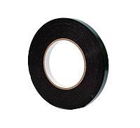 Двусторонний скотч клейкая лента на вспененной основе черная 12мм*10м