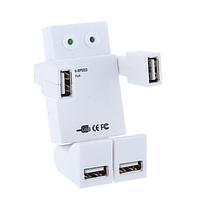 USB хаб «Робот» белый