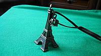 Кулон на шнурке Эйфелева башня, бронза, серебро